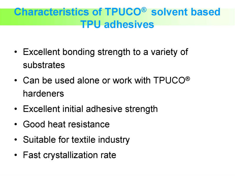 Heat Activated Pu Adhesive/glue For Footwear,Textile Fabric,Pvc ...