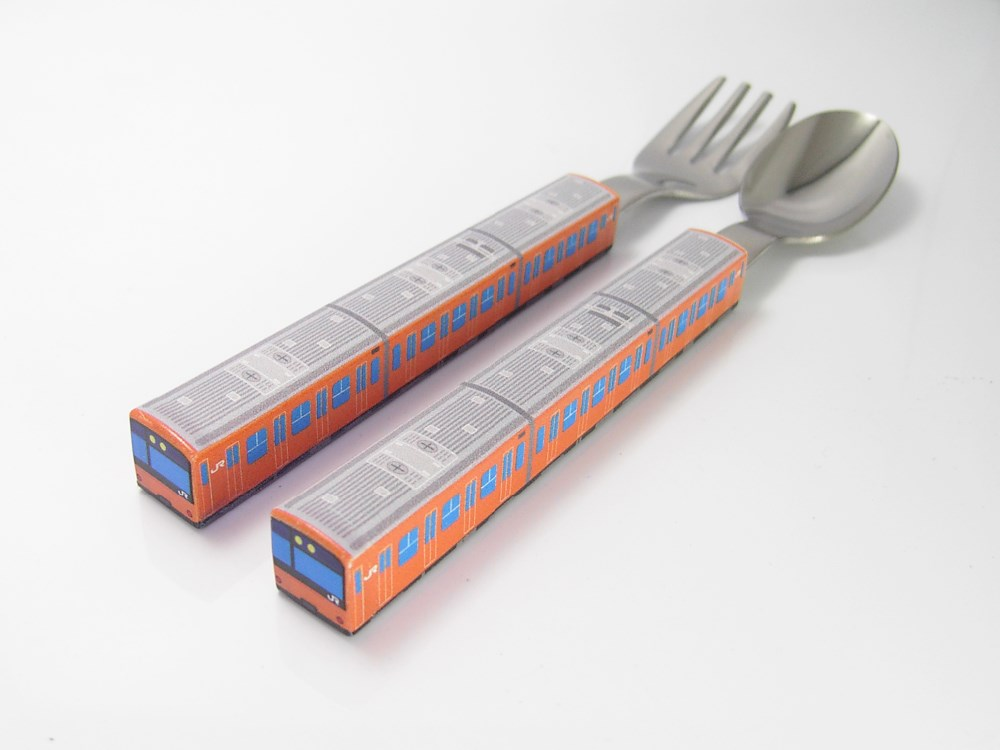 Japanese train shaped fork and chop sticks for home looking for distributors in Singapore tea spoon