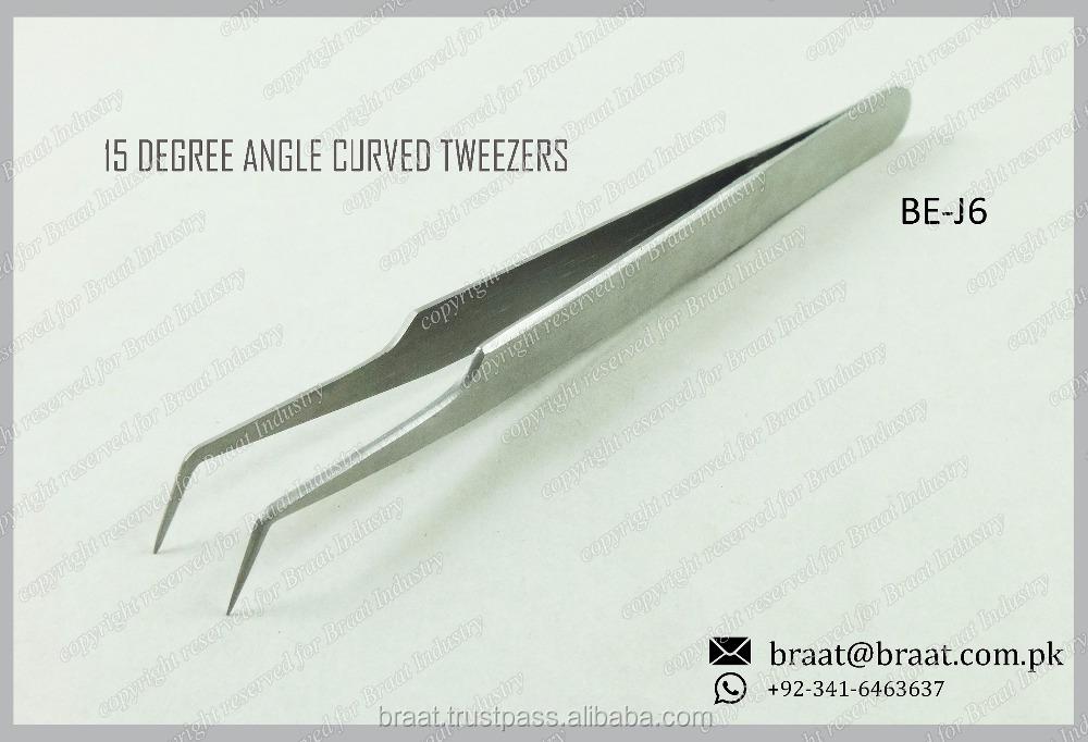dbe835b5781 15 Degree Volume Lash Tweezers Volume Eyelash Pickup Tweezers Volume  Tweezers Surgical Stainless Steel
