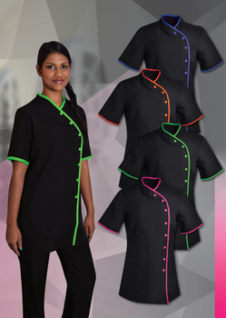 Salon uniform custom spa uniforms beauty hair uniforms for Uniform for spa staff