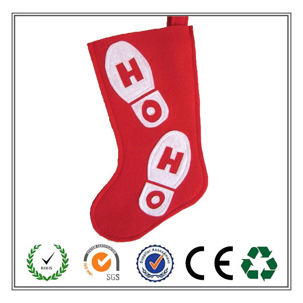 2016 Alibaba Best Selling Christmas Felt Stocking With