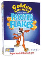 GOLDEN COUNTRY FROSTED FLAKES - 500g Boxes - Pack of 10 (Halal, Kosher)
