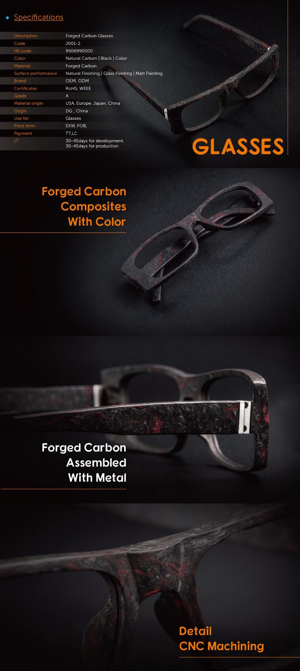 2017 Forjado Fibra De Carbono Gafas De Marcos - Buy Fibra De Carbono ...