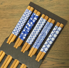 Easy to use custom japanese wooden chopsticks with multiple functions