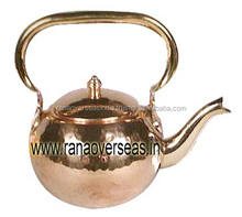 Pure Copper Tea Pot / Kettle With Brass handle for Serving Tea / Milk.