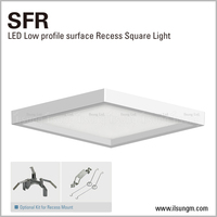 "4"", 6"" and 9"" square LED panel with surface and retrofit mounted fixture"