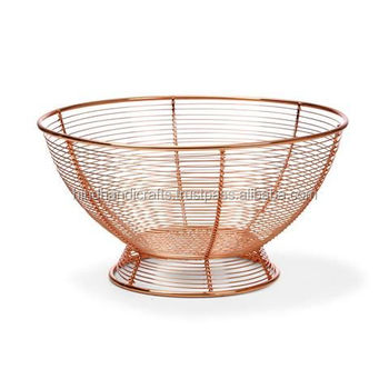 Copper Wire Mesh Fruit Basket, Copper Wire Mesh Vegetable Bowl