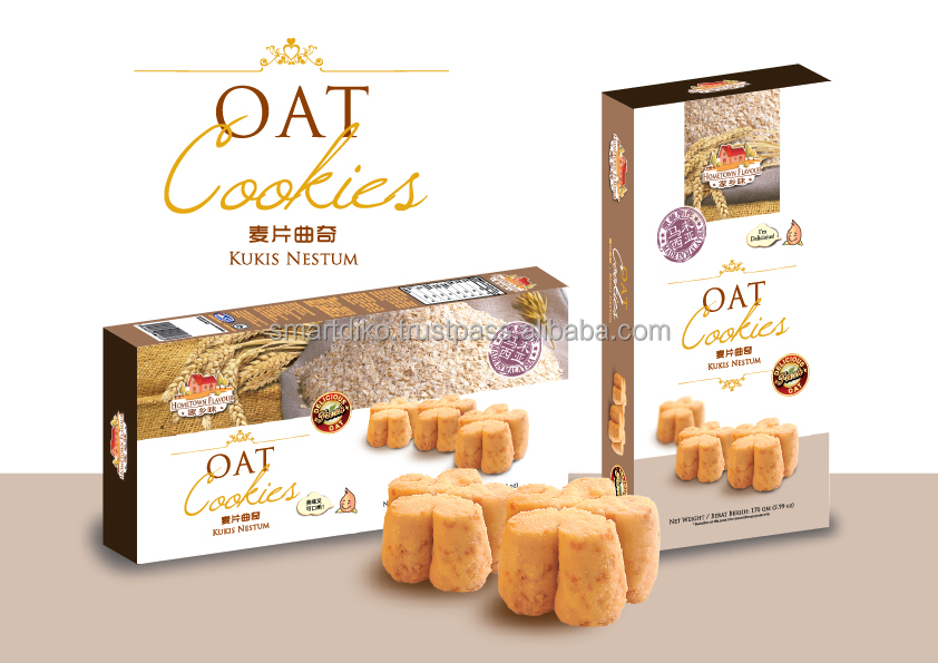 Malaysian Best Selling Fresh Baked Hoetown Oat Cookies 170gm