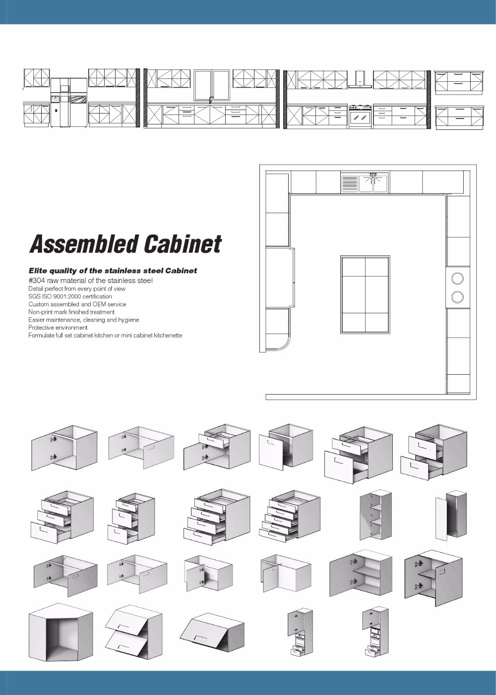 China Factory Stainless Steel Autocad Modern Kitchen Cabinets Buy Cabinet Kitchen Modern