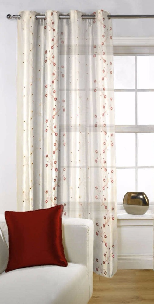 Fabutex Sheer Embroidery 1 Pc door curtains (46x84 inches) made with finest threads & finest machineries to beautify your homes.