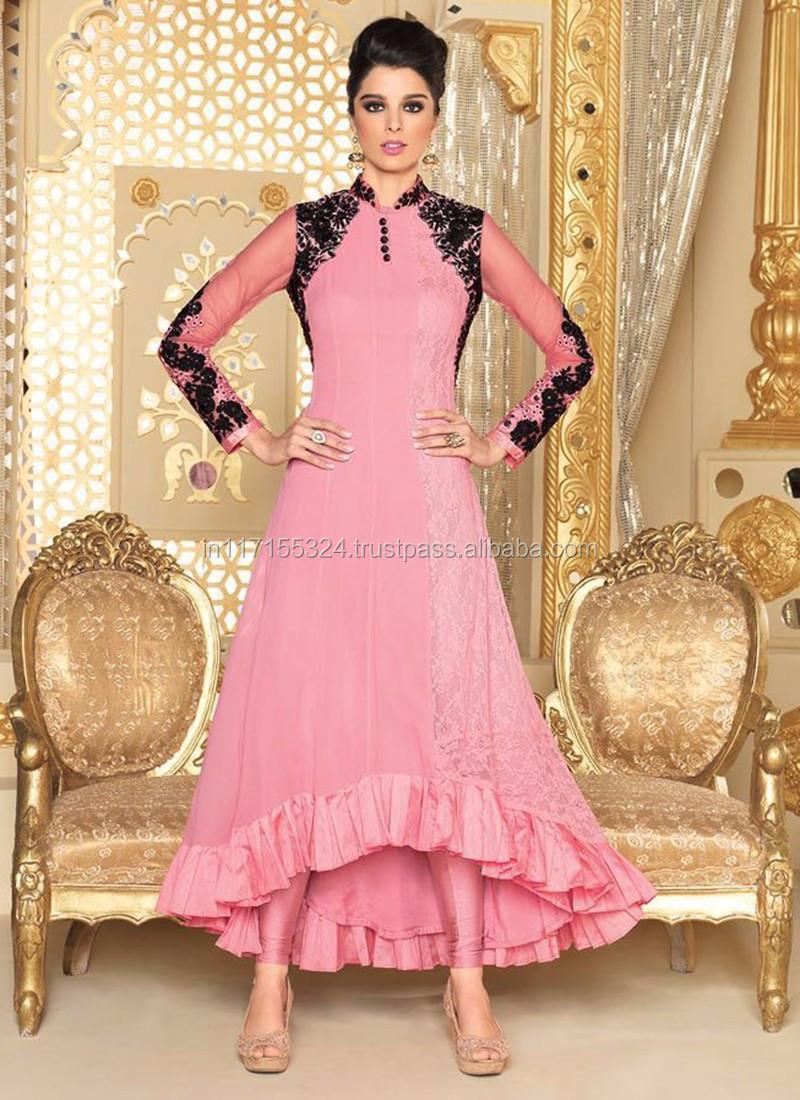 Excepcional Vestidos Pakistani Desgaste Del Partido Viñeta ...