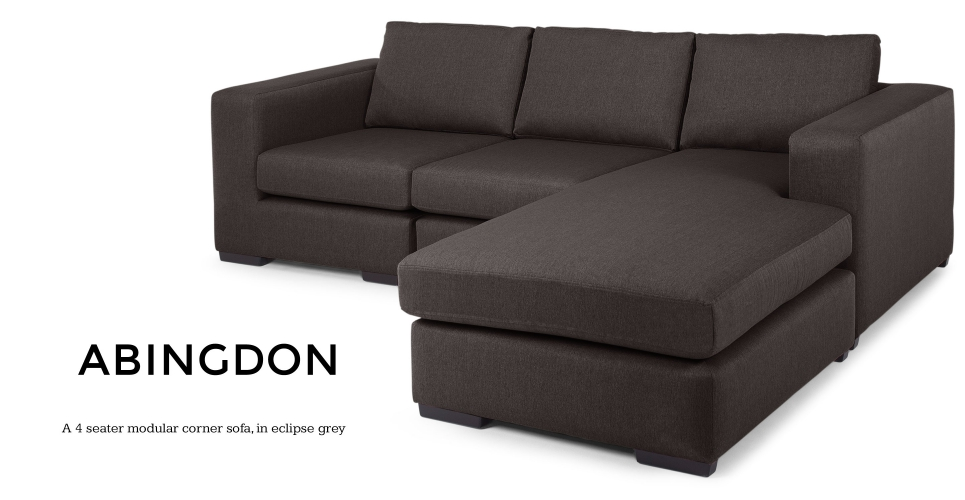 Abingdon 4 Seater Modular Corner Sofa Eclipse Grey Product On Alibaba