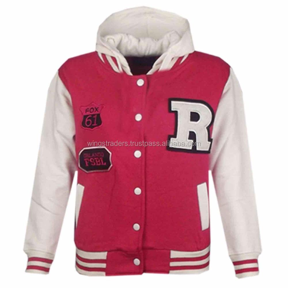 Kids Girls Boys Designers R Fashion Baseball Grey Hooded Jackets Varsity Hoodie