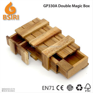 Compartment Wooden Secret Double Magic Puzzle Box