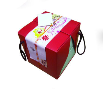 mooncake boxes gift set twin tray handle box 55