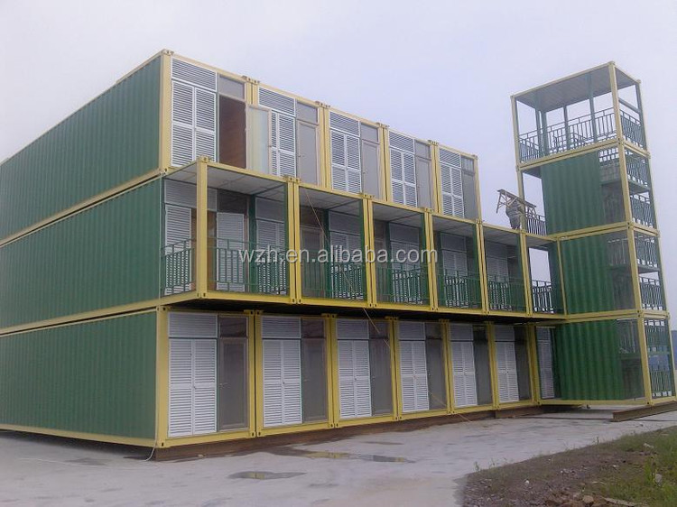 Sea Container Cabin prefab flat pack houses cabin / 20ft sea box containers with