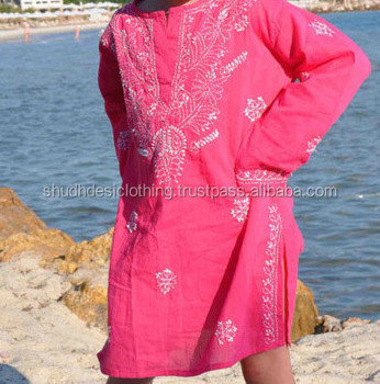 New Branded In Stock Kids Kurti 2014 / Tunic Kurta / Embroidery Beach Tunic  For Kids - Buy Unique Indian Chiken Embroidery Kurta,Fashion Beach