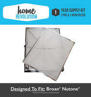 Broan Nutone 1 Year Supply Kit, Comparable Air Purifier Replacement Part 2 Pre & 1 HEPA Filters; Home Revolution Brand