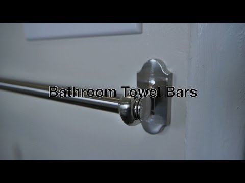 Bathroom Towel Bars For Simple Wall Mounted Storage of Towels Unlike Free Standing Racks / Hooks
