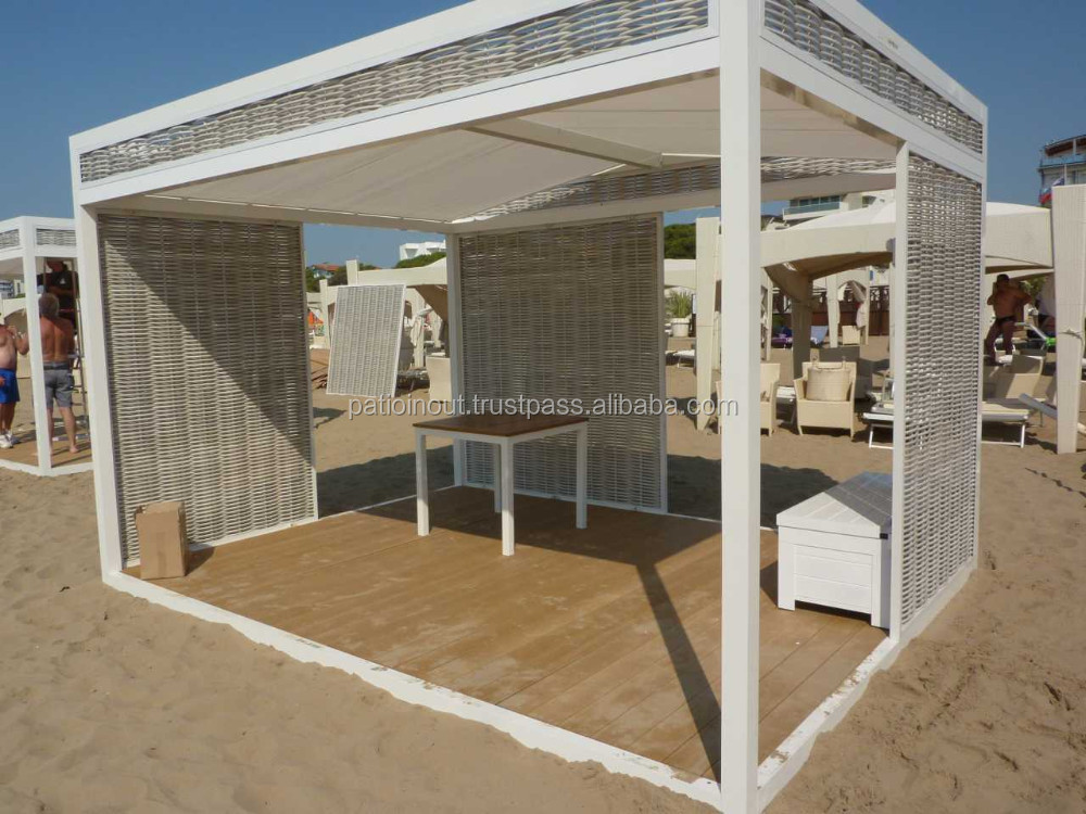modulaire ext rieure gazebo en aluminium pergola pavilion avec lat ral tente de moustiques en. Black Bedroom Furniture Sets. Home Design Ideas