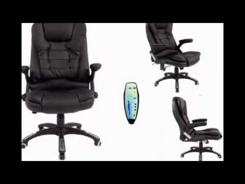 Get Quotations Brown Reclining Massage Faux Leather Office Desk Table Computer Executive Chair Ebay Review