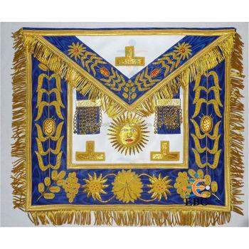 Hand Embroidered Masonic Grand Lodge Master Apron,Collar,Sash,Badge,Metal  Bade,Regalia - Buy Master Mason Apron,Hand Embroidered Masonic Master Mason
