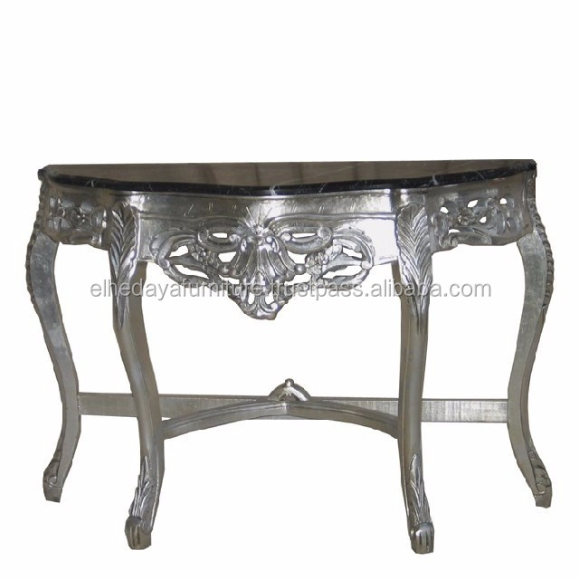 Baroque Silver Side Table Marble Top Antique Console Tables Product On Alibaba
