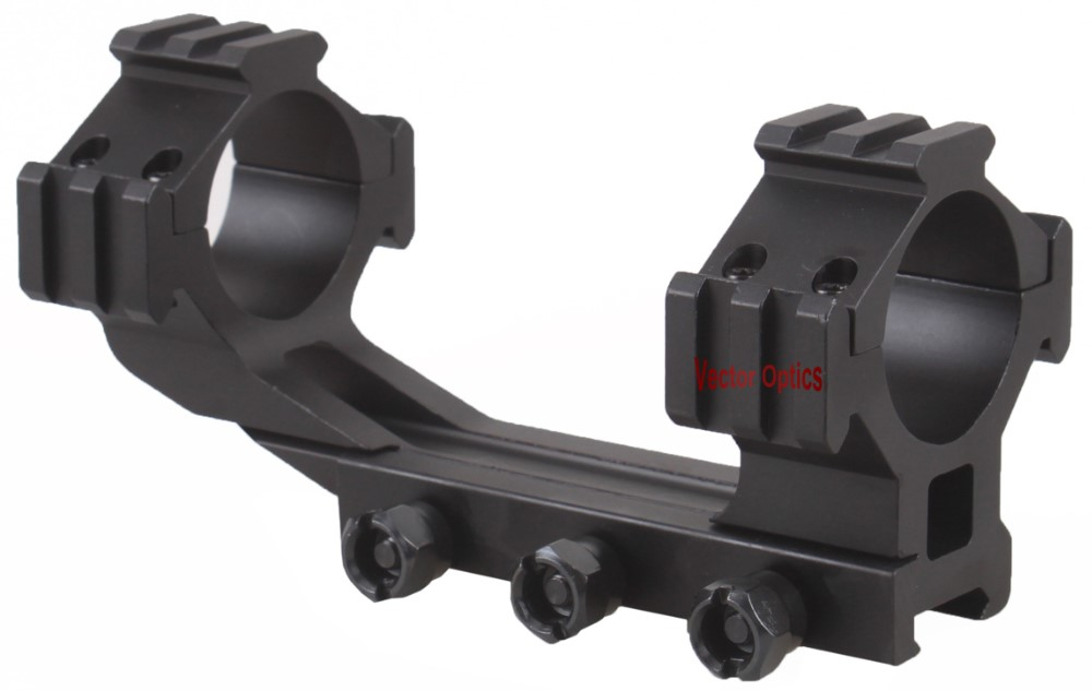 Vector Optics 35mm One Piece Tri-Rail Long Rifle Scope Cantilever Offset Picatinny Weaver Mount with Integrated Rings