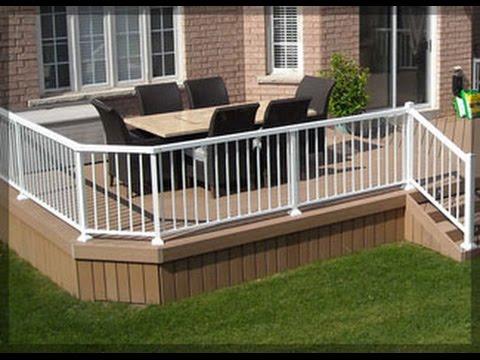 Get Quotations · Aluminum Deck Railing # Wood And Aluminum Deck Railing