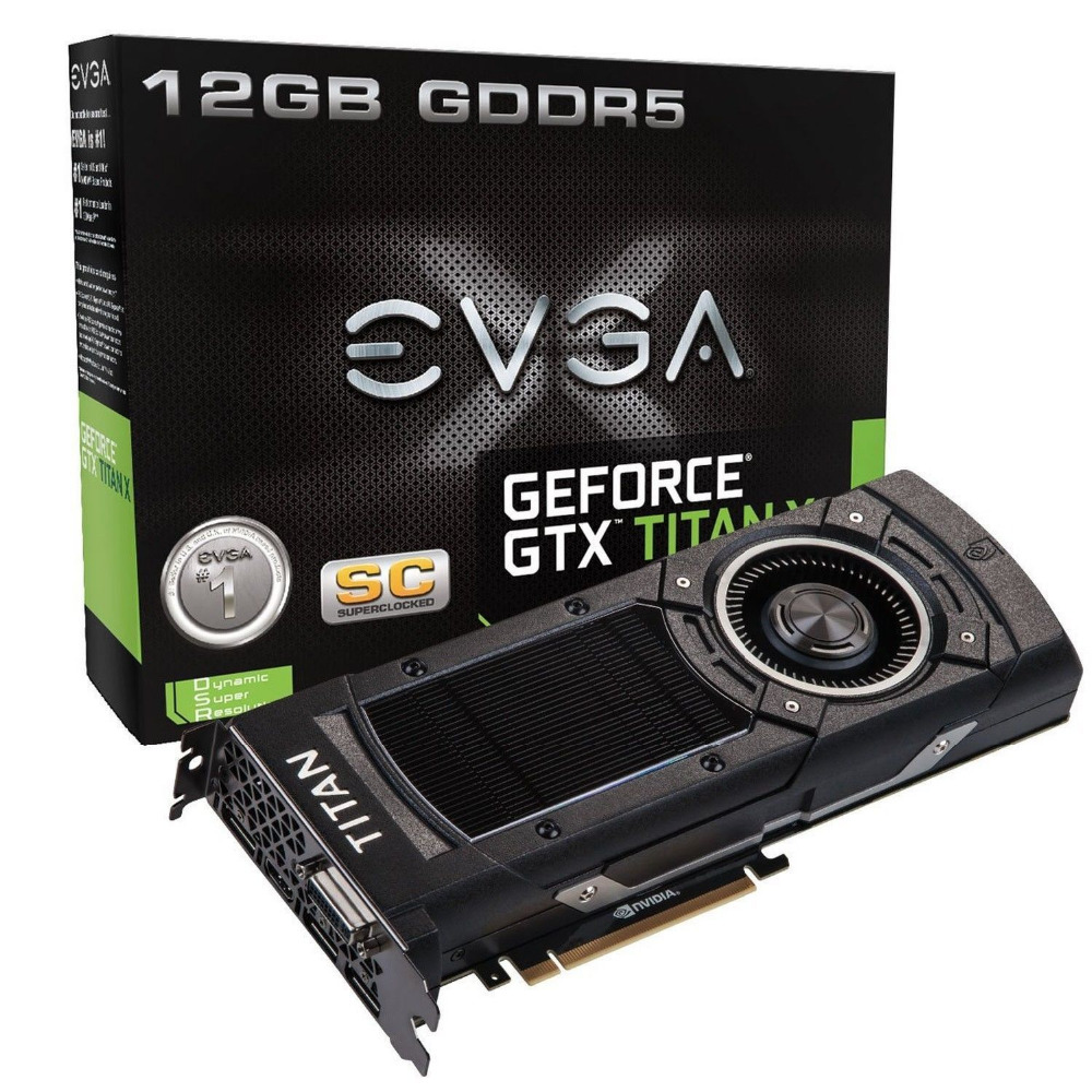 EVGA GeForce GTX TITAN X, TITAN Z 12GB SC GAMING Play 4k with Ease Graphics Card 12G-P, graphics card