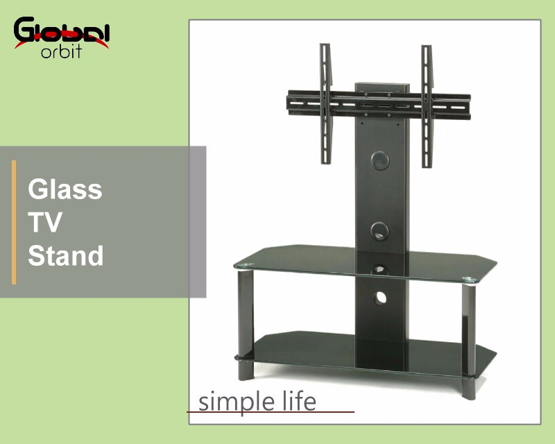 Living Room LCD Furniture Glass Movable Rotate TV Stand