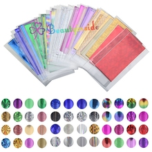 48pc Mix Color Transfer Foil Nail Art Star Design Sticker Decal For Polish Care Nail Art
