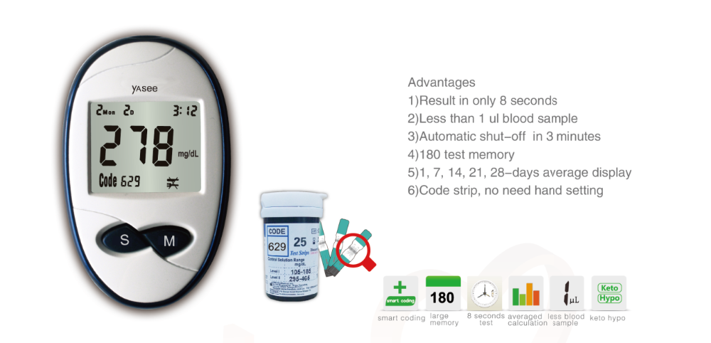 Glucoleader blood glucose meter diabete glucometers blood sugar +50 test strips+50 lancets