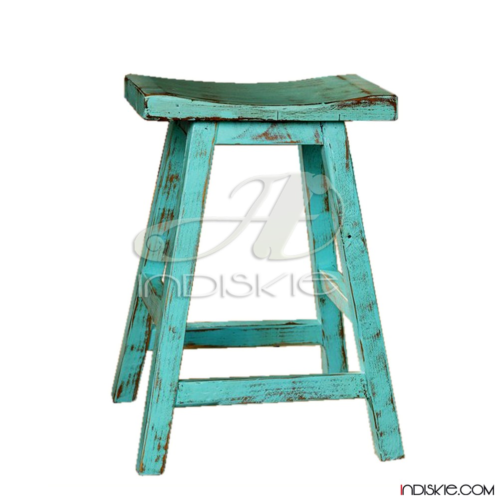 Turquoise Teak Wood Bar Stools Reclaimed Oak Stool Product On Alibaba