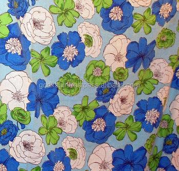 Vintage Aquagreencandy Bluewhite Floral Black Line Drawing