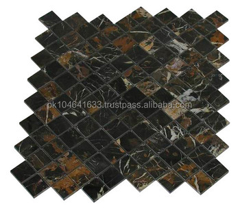 Mosaic Tiles Black And Gold Marble Buy Mosaic Tiling