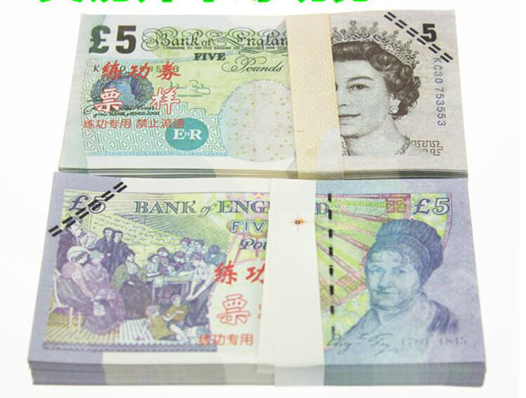 GBP 5 for props and Education/bank staff training paper/play money/copy money/children gift, Great Britain pound