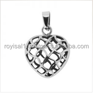 Heart shaped sterling silver pendants