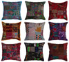 Wholesale Sari Patchwork Pillow Cover Indian Recycle Embrroidered Cushion Cover