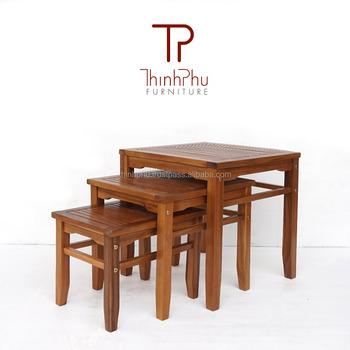 Meilleure Vente Mobilier De Jardin-imbriqués Ensemble De Table De Meubles  En Bois En Plein Air - Buy Table Imbriquée,Mobilier D\'extérieur En ...