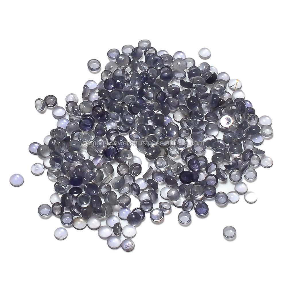 2.5mm Iolite 100% Natural Round Shape Loose Cabochon Gemstones