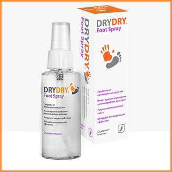 DRY DRY Foot Spray - Effective foot deodorant spray.