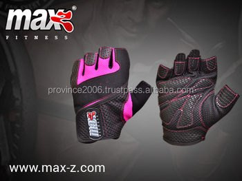 Women leather weight lifting gloves
