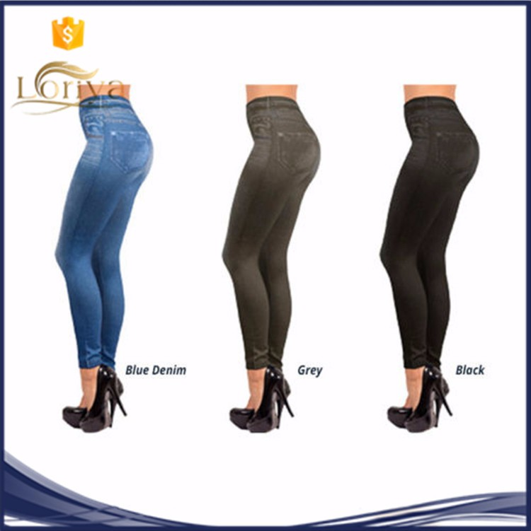 Women Skinny Jeggings Body Slimming Shapewear Leggings Sexy Printed Jeggings