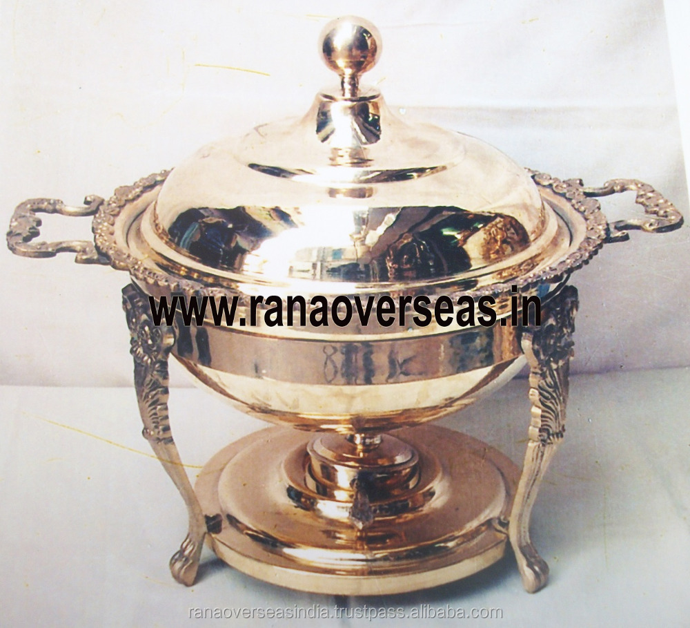 Brass Metal Chafing Dish for Soup