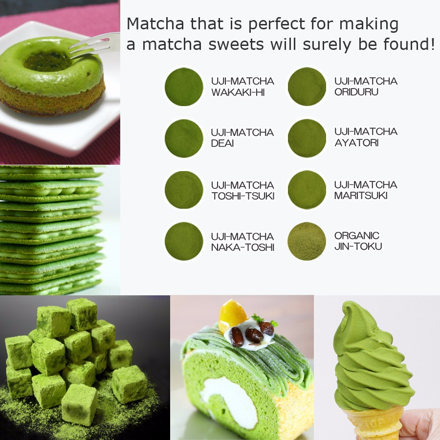 High quality matcha tea for sweets and ice cream made in Japan