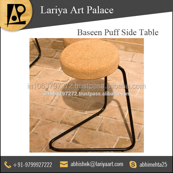 Ultimate Quality Baseen Puff Side Table for Wholesale Buyers