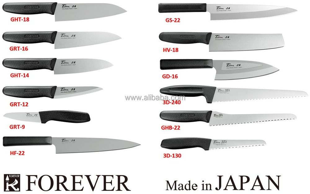 titanium kitchen wares,knives for the home and professional chef