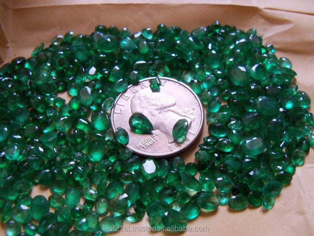 Emerald natural faceted stones, less than ct to 1 ct size approx. round oval drop shapes free sizes.