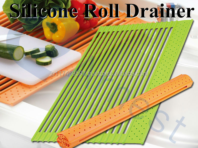 Silicone Utensils Kitchen Sink With Dish Roll Drainers Sink Strainer  Kitchenware Accessories 3 Sizes Silicone Roll